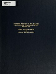 Cover of: Proposed Revision to the Enlisted Performance Evaluation Report Navpers 792