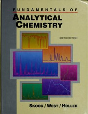 Cover of: Fundamentals of analytical chemistry | Douglas A. Skoog