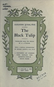 Cover of: The black tulip | Alexandre Dumas