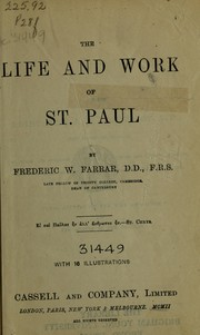 Cover of: The life and work of St. Paul | Frederic William Farrar