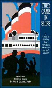 Cover of: They came in ships | John Philip Colletta