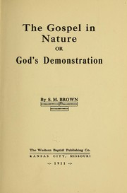Cover of: The gospel in nature