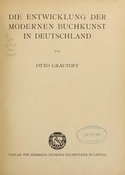 Die entwicklung der modernen buchkunst in Deutschland