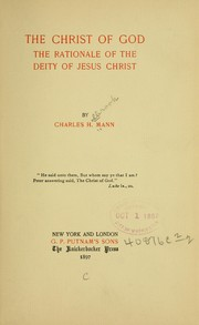 Cover of: The Christ of God