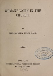 Cover of: Woman's work in the church
