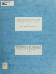 Cover of: Resource allocation for the United States Navy attack carrier striking force in the 1968-1980 period