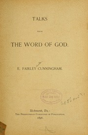 Cover of: Talks from the word of God...