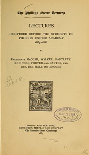 Cover of: Lectures delivered before the students... 1885-1886