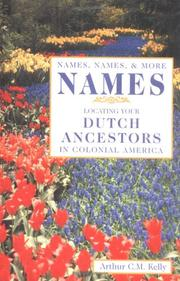 Cover of: Names, names, and more names
