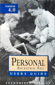 Cover of: Personal Ancestral File: Version 4.0  | Hope Foundation