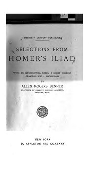 Cover of: Selections from Homer