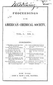 Cover of: Proceedings of the American Chemical Society by American Chemical Society