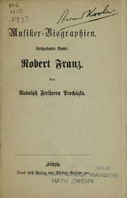 Cover of: Robert Franz