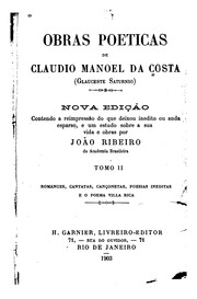 Cover of: Obras poeticas de Claudio Manoel da Costa (Glauceste Saturnio) by Manoel da Costa