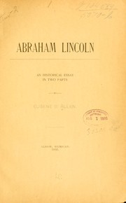 Cover of: Abraham Lincoln by Eugene C. Allen