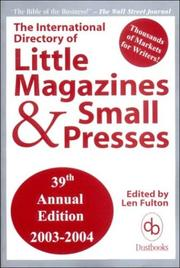 Cover of: The International Directory of Little Magazines and Small Presses, 39th Edition, 2003-2004 | Len Fulton