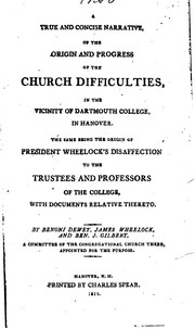 Cover of: A True and Concise Narrative, of the Origin and Progress of the Church ...