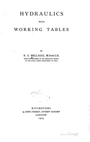 Cover of: Hydraulics, with working tables | Edward Skelton Bellasis