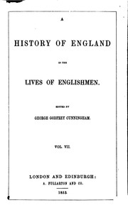 A History of England in the Lives of Englishmen