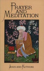 Cover of: Prayer and meditation