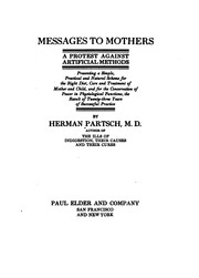 Cover of: Messages to mothers | Herman Partsch