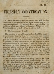 Cover of: Friendly conversation |