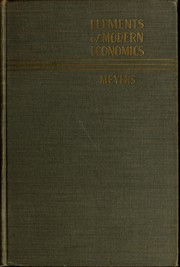 Cover of: Elements of modern economics | Albert Leonard Meyers