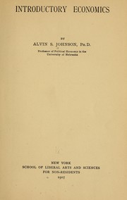 Cover of: Introductory economics | Alvin Saunders Johnson