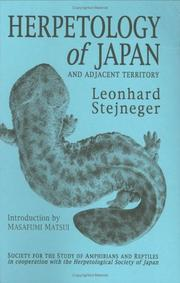 Cover of: Herpetology of Japan and Adjacent Territory