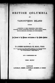 Cover of: British Columbia and Vancouver