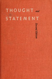 Cover of: Thought and statement | William Gordon Leary