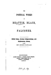 Cover of: The poetical works of Beattie, Blair, and Falconer. | James Beattie