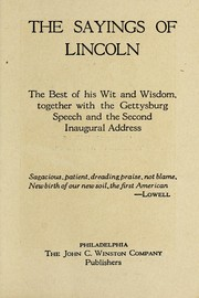Cover of: The sayings of Lincoln | Abraham Lincoln