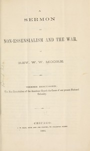 Cover of: A sermon on non-essensialism [!] and the war | W. W. Moore