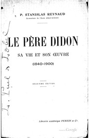 Cover of: Le père Didon | Stanislas Reynaud