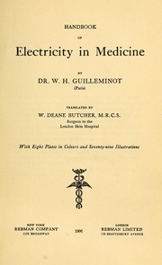 Cover of: Handbook of electricity in medicine | W. Hyacinthe Guilleminot