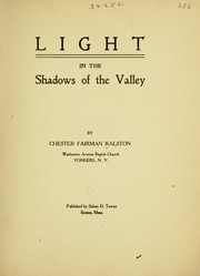 Cover of: Light in the shadows of the valley