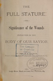 Cover of: The full stature