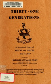 Thirty-one generations by Barnard L. Colby