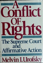 Cover of: A conflict of rights