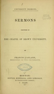 Cover of: University sermons