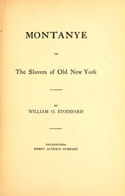 Cover of: Montanye