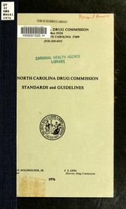 Cover of: The North Carolina Drug Commission standards and guidelines