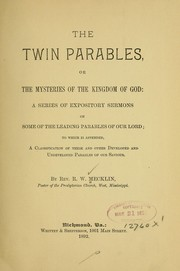 Cover of: The twin parables