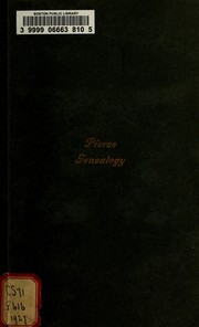 Cover of: Pierce genealogy