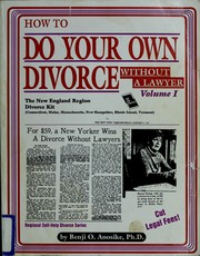 How to Do Your Own Divorce Without a Lawyer by Benji O. Anosike