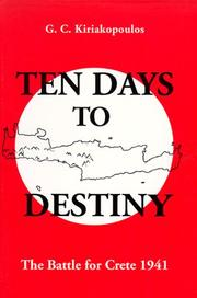 Cover of: Ten days to destiny