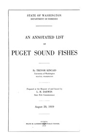 Cover of: An annotated list of Puget Sound fishes