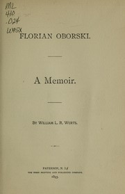 Cover of: Florian Oborski