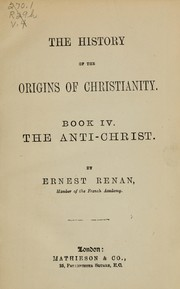 Cover of: The history of the origins of Christianity
